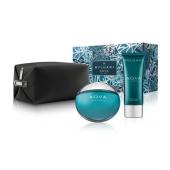 《情人節禮盒》 BVLGARI 寶格麗 AQVA 水能量男性淡香水禮盒 (淡香水100ml+鬍後乳100ml+盥洗包)