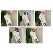 卡通襪子 中筒 ( 五雙一組 )