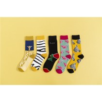 歐美嘻哈街頭長筒襪子(隨機五雙一組)