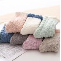 秋冬珊瑚絨麻花款襪子 ( 顏色任選三雙一組 )