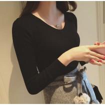 《現貨》 韓版針織修身上衣