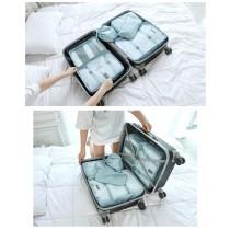 旅行行李箱衣物分類收納包6件組