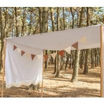 高質感皮革掛旗 三角旗 露營裝飾