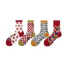 日系可愛卡通襪子 ( 五雙一組 )