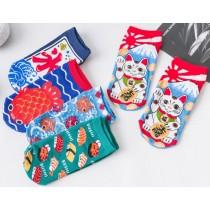 日系造型短襪 ( 五雙一組 )