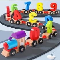 《兒童節》兒童木製早教益智數字火車 玩具