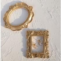 巴洛克銅色迷你空心小相框 三件組