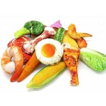仿真蔬菜系肉骨頭毛絨寵物玩具(買二送一)