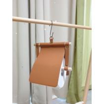 戶外露營 野餐 皮革捲筒衛生紙架