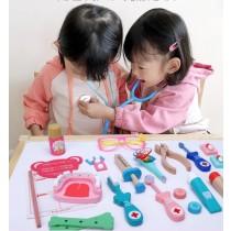 《兒童節》兒童木製醫生玩具箱
