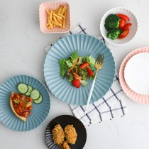 亞光質感花型陶瓷碗盤餐具