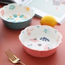 花型陶瓷碗 甜品碗 沙拉碗