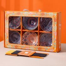 波希米亞 陶瓷碗筷 餐具禮盒