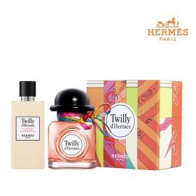 《母親節禮物》HERMES 愛馬仕 Twilly D'hermes 絲巾女性淡香精禮盒 淡香精85ML+身體乳80ML